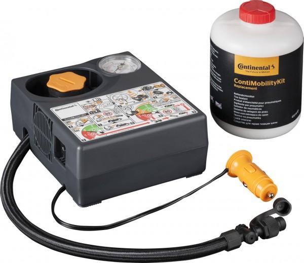 Conti Reifenpannenset Mobility Kit Reparatursatz Reifen Dichtmittel + Kompressor