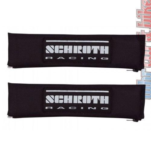 2x Schroth Gurtpolster Racing 2 Zoll 50mm Gurtschoner schwarz - silber