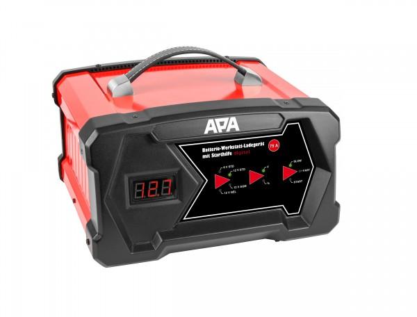 Werkstatt Batterieladegerät & Starthilfe digital APA 6V 12V 12A 3-300Ah