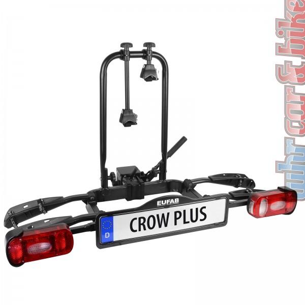 Heckträger Kupplungsträger Eufab Crow Plus für 2 Fahrräder klappbar faltbar