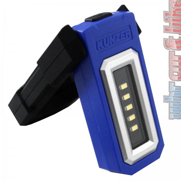 Kunzer PL-050 SMD-LED Akku Arbeitsleuchte Arbeitslampe USB 200lm Magnet Li-Ion
