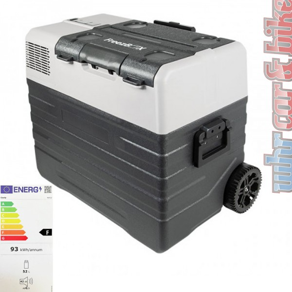 Frielitz Cooly Kompressor-Kühlbox 52L Freezbox 12V 24V 230V Gefrierbox bis -20°C
