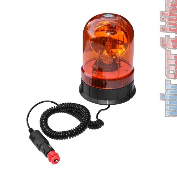 Eufab 12V 24V Rundumleuchte orange Magnetfuß Saugnapf Zigarettenanzünder-Stecker
