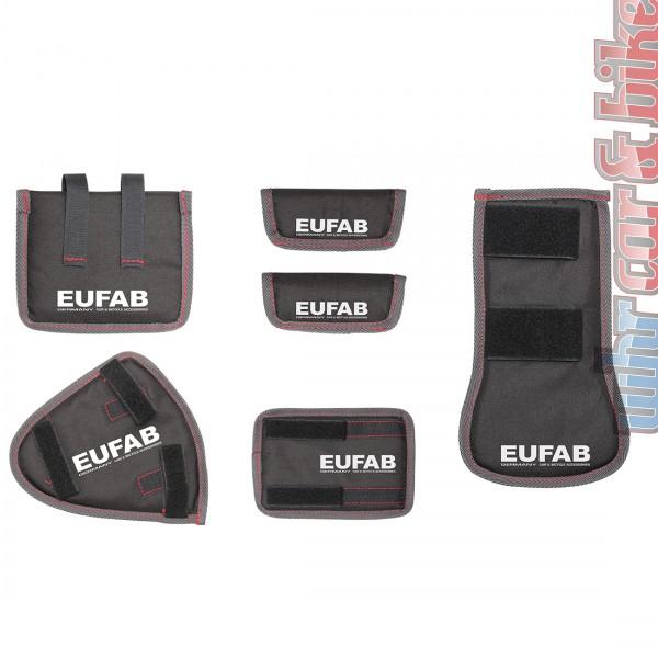Eufab Fahrrad Transport Schutz 6-tlg. Rahmenschoner für Fahrradträger Heckträger