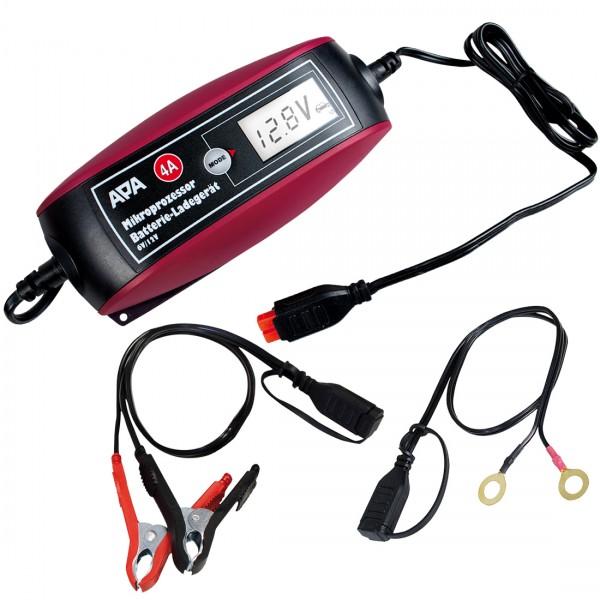 APA 6V 12V Mikroprozessor Batterieladegerät 1,2-120Ah 9 stufige Ladekennlinie